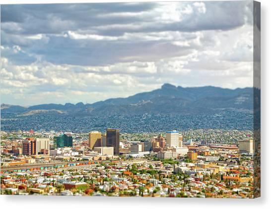 El Paso Texas Downtown View Canvas Print