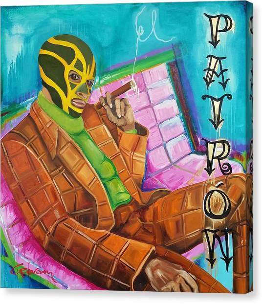 Hulk Hogan Canvas Print - El Patron by Crimson Shults