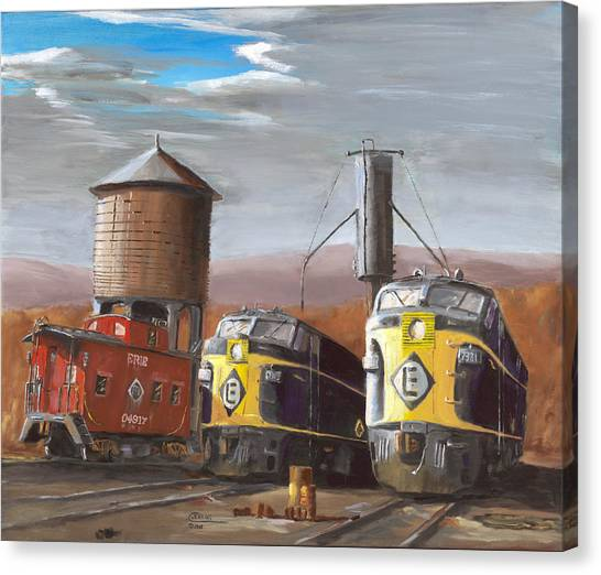 Caboose Canvas Print - El Power by Christopher Jenkins