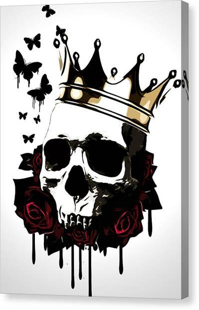 Blood Canvas Print - El Rey De La Muerte by Nicklas Gustafsson