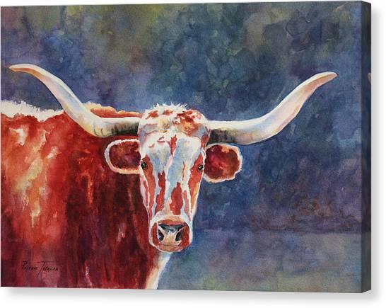 el rey... Longhorn Canvas Print