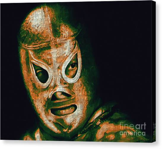 Wwe Canvas Print - El Santo The Masked Wrestler 20130218 by Wingsdomain Art and Photography