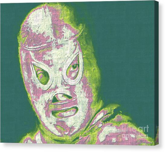 Wwe Canvas Print - El Santo The Masked Wrestler 20130218v2m80 by Wingsdomain Art and Photography