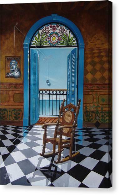 El Sillon De Abuelita Canvas Print