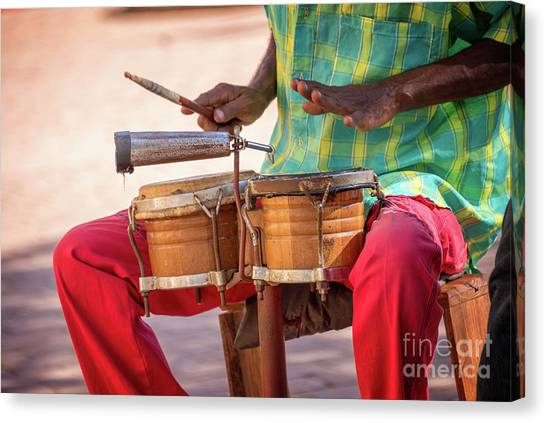 Percussion Instruments Canvas Print - El Son De Cuba by Delphimages Photo Creations