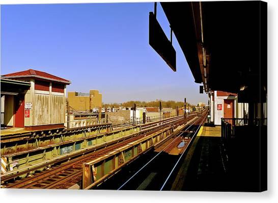 El Station Brooklyn Canvas Print by Frank Winters