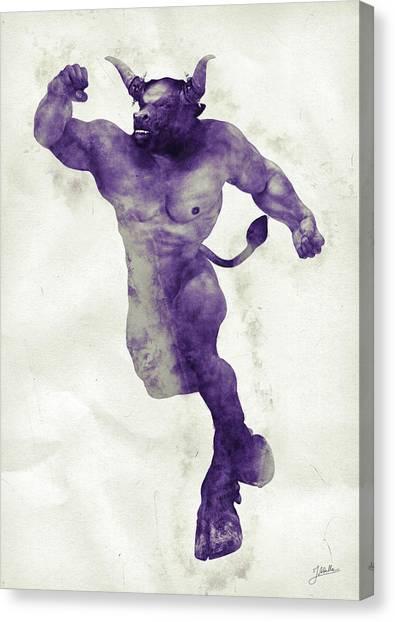 Minotaur Canvas Print - El Torito Guapo by Joaquin Abella