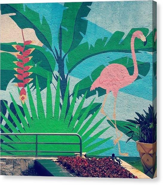 Flamingos Canvas Print - El Verano Hecho Mural by Angie Nan