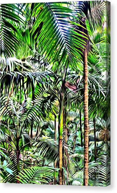 Forest Paths Canvas Print - El Yunque Rainforest 2 by Carey Chen