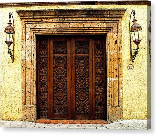 Elaborate Puerta Canvas Print by Mexicolors Art Photography
