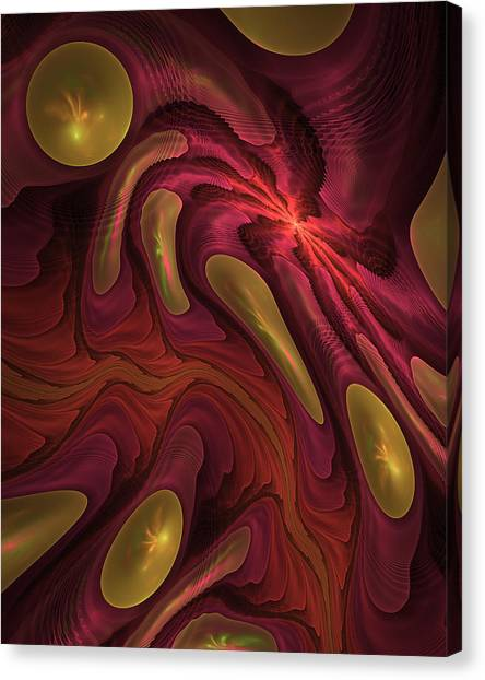 Elaine's Lava Flow Canvas Print