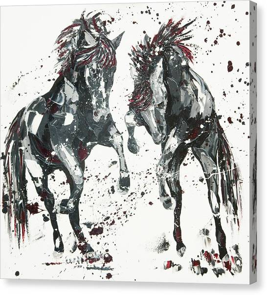 Wild Horse Canvas Print - Elation by Penny Warden