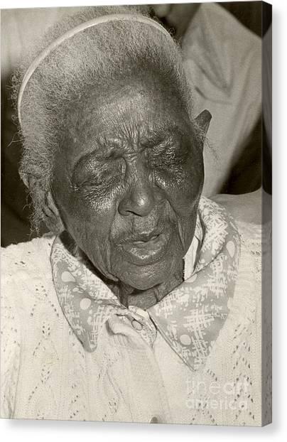 Elderly Woman Canvas Print by Andrea Simon