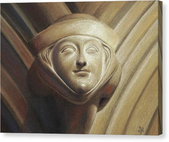 Canvas Print featuring the pastel Eleanor Of Aquitaine by Joe Winkler