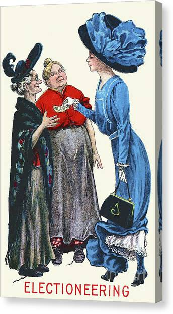 Womens Rights Canvas Print - Electioneering, 1909 by English School