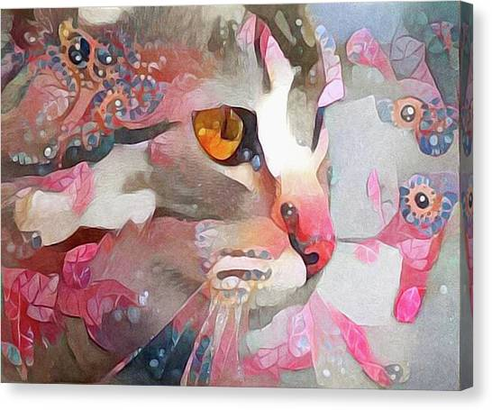 Canvas Print featuring the mixed media Electra by Susan Maxwell Schmidt