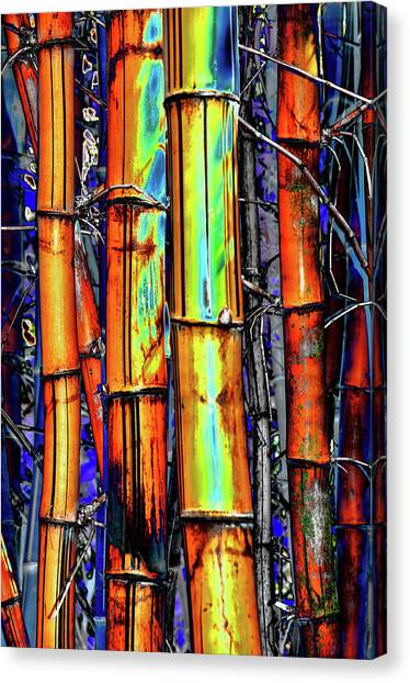 Electric Bamboo 3 Canvas Print