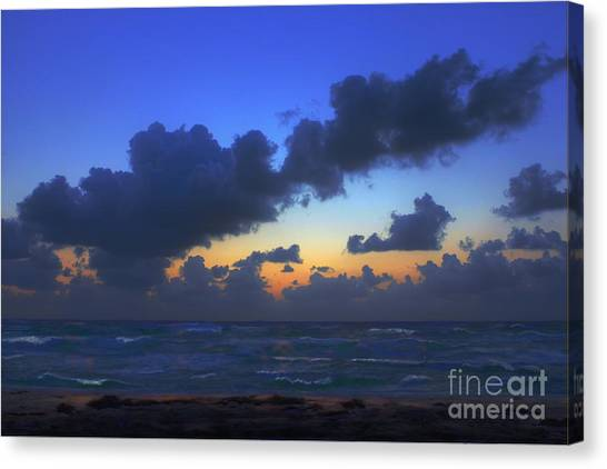 Electric Blue 2 Canvas Print