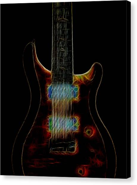 Guitar Picks Canvas Print - Electric Blues by Athena Mckinzie