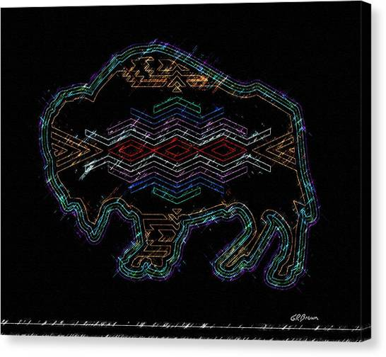 Electric Buffalo Canvas Print