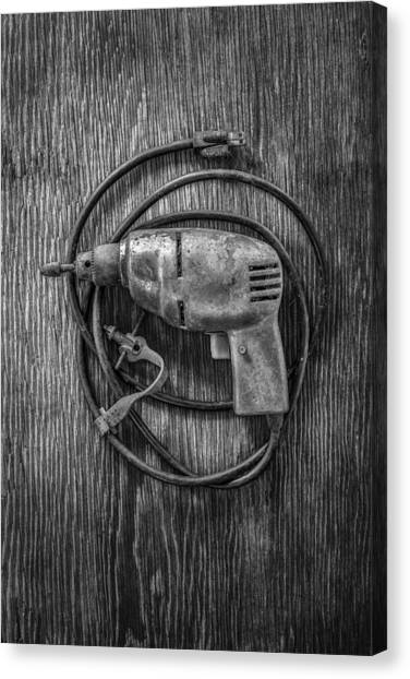 Tools Canvas Print - Electric Drill Motor by YoPedro