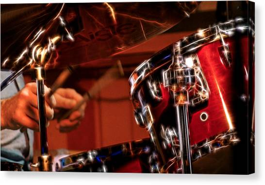 Electric Drums Canvas Print