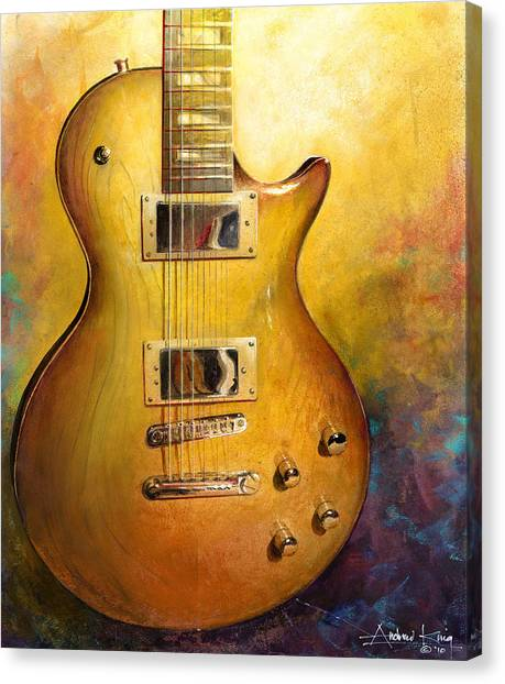 Electric Gold Canvas Print