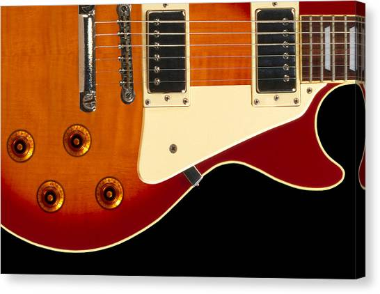 Electric Guitars Canvas Print - Electric Guitar 4 by Mike McGlothlen