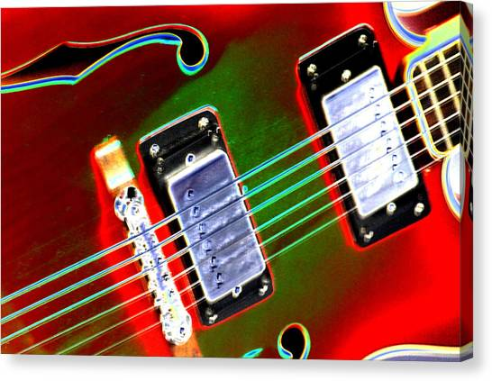 Guitar Picks Canvas Print - Electric Guitar by Peter  McIntosh