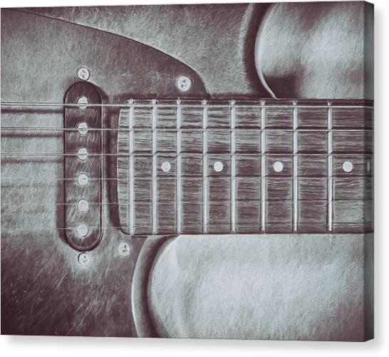 Electric Guitars Canvas Print - Electric Guitar by Scott Norris