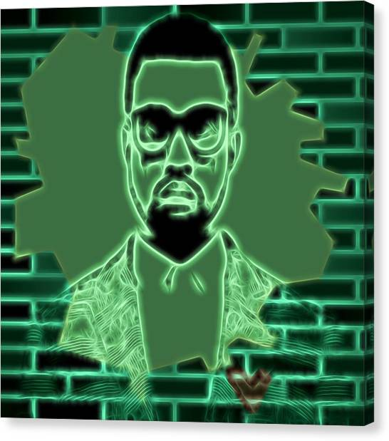 Jay Z Canvas Print - Electric Kanye West Graphic by Dan Sproul