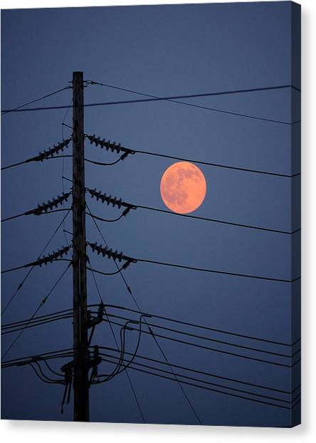 Electric Moon Canvas Print