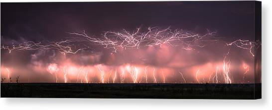 Electric Panoramic Canvas Print