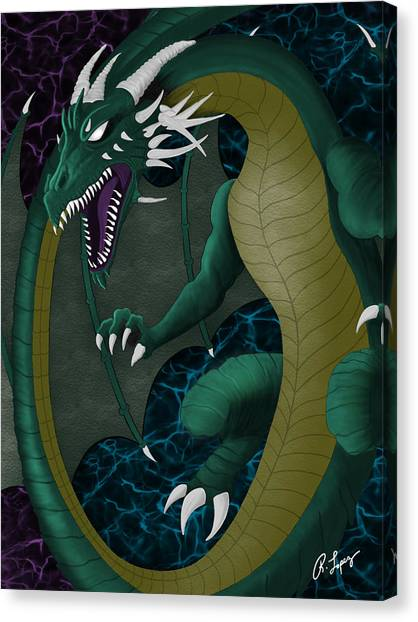 Electric Portal Dragon Canvas Print