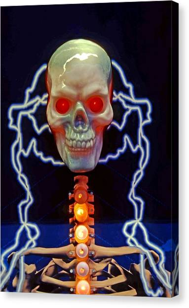 Electric Skull Canvas Print