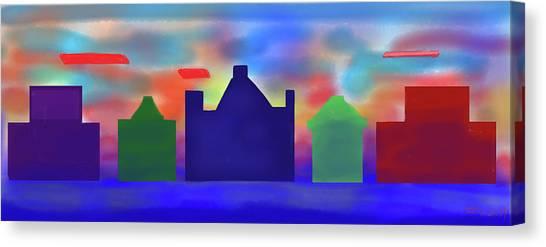 Electric Sunrise Canvas Print