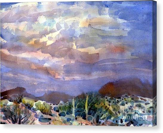 Sonoran Desert Canvas Print - Electric Sunset by Donald Maier