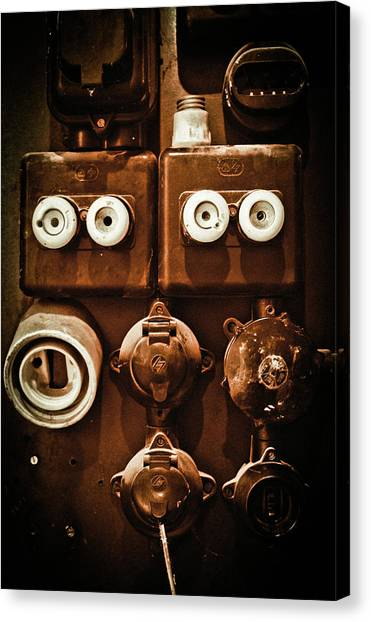 Electrical Panel Canvas Print