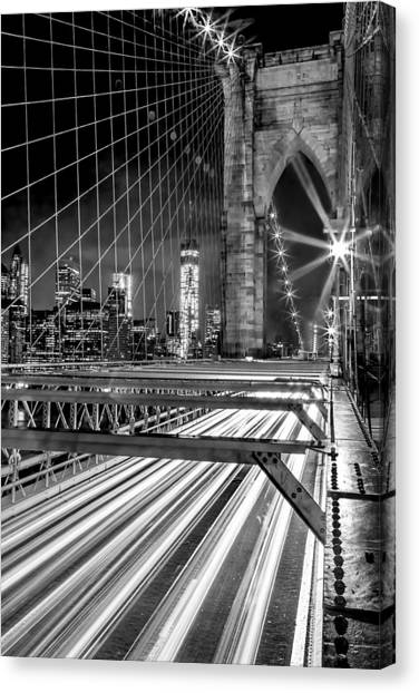 New York Skyline Canvas Print - Electrify by Az Jackson
