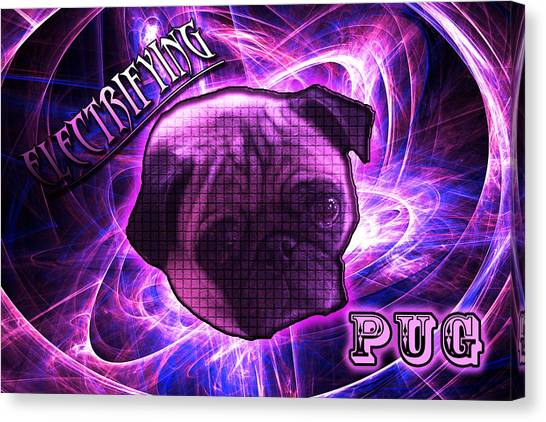 Electrifying Pug Canvas Print