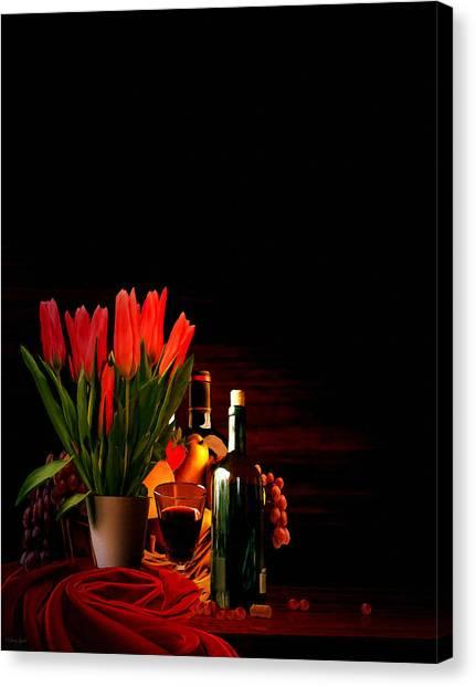 Wine Barrels Canvas Print - Elegance by Lourry Legarde