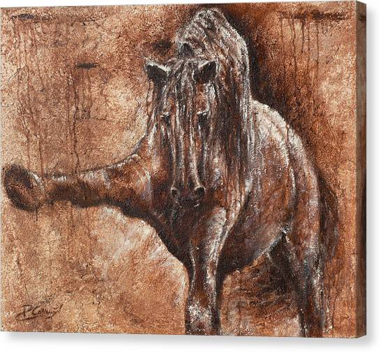 Elegance Of Joy Canvas Print by Paula Collewijn -  The Art of Horses