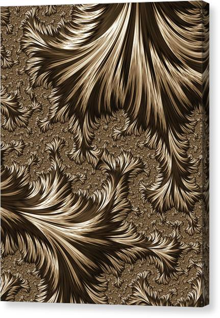 Brass Etching Canvas Print - Elegant Brass Filigree Abstract by Georgiana Romanovna