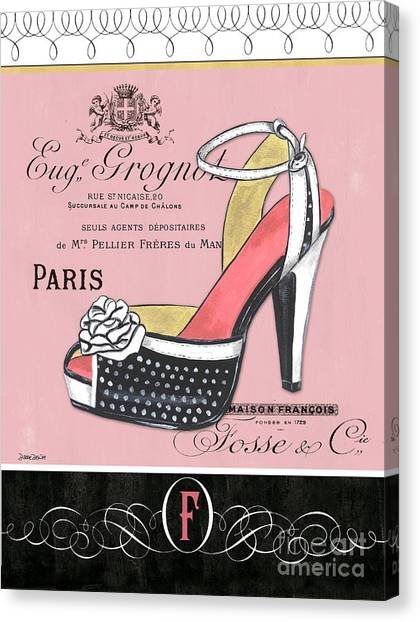 Toes Canvas Print - Elegant French Shoes 2 by Debbie DeWitt
