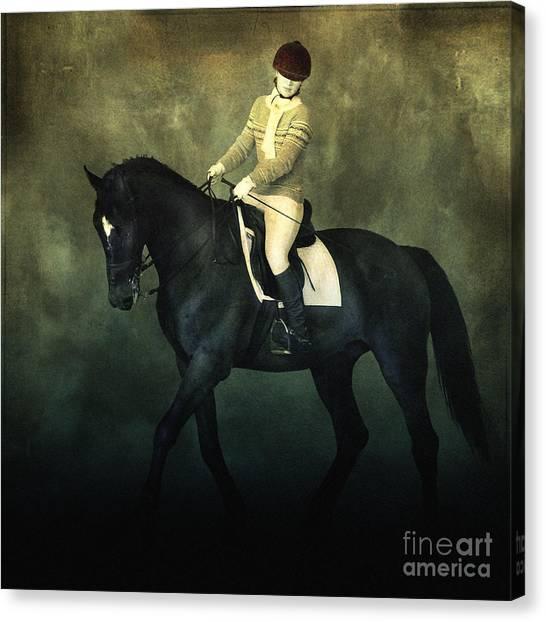 Elegant Horse Rider Canvas Print
