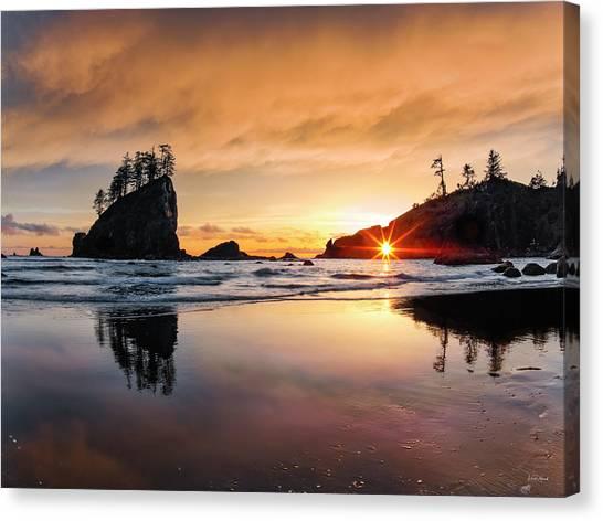 Canvas Print featuring the photograph Elegant Ocean Light by Leland D Howard