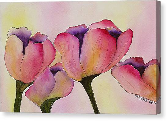 Elegant Tulips  Canvas Print by Mary Gaines