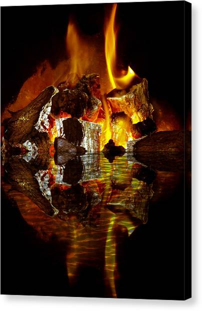 Ashes Canvas Print - Element Reflections by Tom Gowanlock