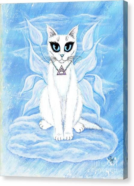 Elemental Air Fairy Cat Canvas Print