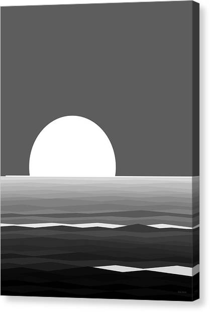 Elements - Black And White Water Canvas Print